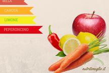 Succhi di Ottobre / Ottobre è un mese molto ricco di frutta e ortaggi.   Broccoli, Bietole, Carote, Patate, Finocchi, Rape e Melanzane sono solo alcuni degli ortaggi di stagione in questo mese; mentre per la frutta possiamo reperire facilmente Mele, Pere, Melograni, Uva, Cachi e Limoni.   In questa bacheca di succhi per estrattore puoi trovare alcuni succhi che aiuteranno a depurare il tuo organismo e mantenere il tuo stato di forma, dandoti il giusto apporto di vitamine durante questo mese.