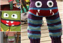 strikke bukser