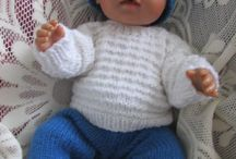 My knitted dolls clothes