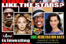 "The Celebrity Status Competition / Friday-March 28th, 2014  Saturday- March 29th, 2014 Singers- Instrument Artists of  Hip Hop, R&B, Pop, Rock, Jazz, Raggae, Gospel...this is your moment to be heard & signed to a Record Label.  Text to: 704-475-5282 after your sign-up for the ""Mary McLendon Roster"" / by F&M Romance Flowers, Baskets, & Gifts"