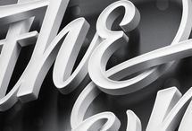 Typography / Amazing typography - designs and great detail! Great deal of inspiration here!