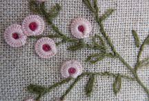 Blanket stitch flower