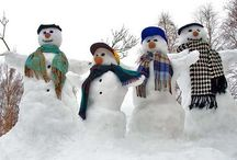 Snowpeople!!!! / Even though I live where it doesn't snow, I still love snowpeople!!