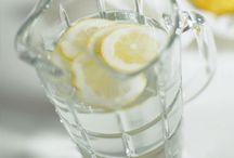 Citrom es víz / Üveg edény