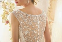Sheer Wedding Gowns / A delightful trend towards dresses with beautiful, sheer backs and necklines has arrived. These gorgeous gowns are feminine and classy; they are sexy yet demure and provide a breathtaking way to cover up, keeping your modesty and fabulous appeal intact at the same time.