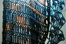 blue shawlette