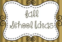 Fall School Ideas / Ideas for my classroom with a fall theme