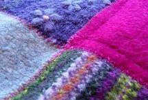 Patch tæpper uld sweater