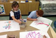 If I were a tree... / Students draw what they would look like if they were a tree.