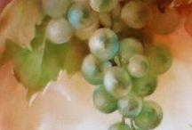 Posliininmaalaus: hedelmät ja marjat / Hedelmien ja marjojen maalausmalleja ja ohjeita