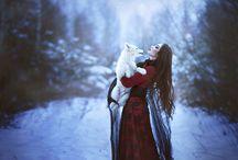 Dog in fairytale