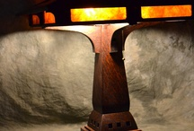 Oak Arts and Crafts Table Lamp