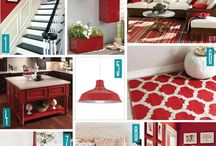 diy Red and Brown home decor