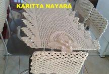 capas de cadeiras  em crochê