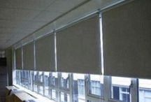 Roller Blinds / Manufactured to customer specifications in our own workshops, our extensive range of Sun-X roller blind fabrics are mounted on side-chain, crank-handle, or motorised rollers as required. Sun-X roller blinds, used in conjunction with one of our solar control window films, provide a complete light control solution to solar heat gain and glare in the workplace.