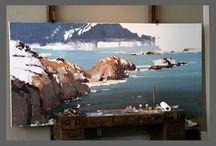 Painted coast line
