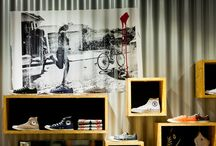 "Soul - shop concept for a chain of stores ( Converse, CAT, Merrell and others) / We have created a new concept for the chain of stores SOUL (brands: CAT, Converse, Merrell etc.). Thanks to the good cooperation with the Investor (Soul / Group EMF) we have managed to create the ""contest"" interior: unusual, original, with high capacity, flexible, consistent and above all - honest."