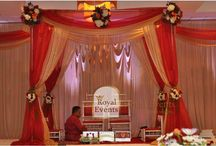 Stage Decor / An elegant and beautifully created stage enhances the splendor of wedding and amazes the guests.