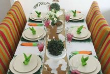 Velikonoční dekorace - věnce, vajíčka, stolování