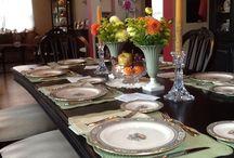 Thanksgiving table, recipes, etc 2016