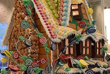 Gingerbread / Houses and cookies cake and bread