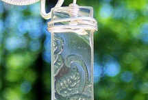 Antique Clear Depression Glass / From the beautiful but broken remains of clear antique depression glass taken from the wooded habitats of the Pennsylvania Amish Country, comes beautiful jewelry!