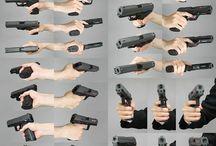 оружие в руке