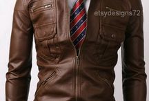 Male leather jackets