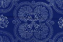 kékfestő minták
