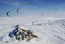 Only 14 of 300 kiters make it to the 2015 Red Bull Ragnarok finish. / Only 14 of 300 kiters make it to the finish. 300 kiters from 28 countries were gathered on the icy mountain plains of Hardangervidda in Norway, to compete in the world´s biggest and toughest snowkite competition, Red Bull Ragnarok.