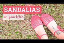 Vídeo sandalias tejidas