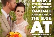 Styled Photo Shoot: Danielle & Erik at Historic Oakdale Ranch / In the mood for some romance? Stop by the blog to check out Danielle & Erik's gorgeous styled photo shoot at Historic Oakdale Ranch with rentals from America's Party Rental and gown from Bellisima Bridal Boutique! Photos by Amy Shuman Photography. Follow this link for more - http://www.realweddingsmag.com/styled-photo-shoot-danielle-erik-at-historic-oakdale-ranch/