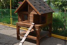 Уличные домики для кошек / Утеплённые уличные домики для кошек с подогревом. Различные модели. формы и цвета.