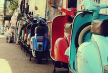 Cars, vespa, bike