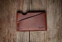 Leather cardholders/wallets