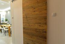 Drzwi przesuwne ze starego drewna/Altholz Schiebetür