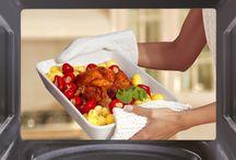Recetas al microondas / Todas las recetas al microondas clasificadas por bizcochos y dulces, carnes, tortillas, pescado, patatas...