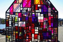 Colored glass architecture