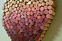 Wine Art & Crafts / Pieces of decor made from various wine things.