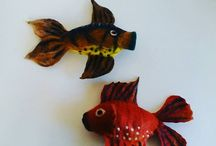 Fishes / Felted fishes for home decoration