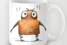 Funny Robots and Droids / Paul Stickland's funny robot artwork on amazing gifts. Funny Robots and Droids, funny geeky dudes. Check out the funny robot t shirts, funny robot mugs, funny robot phone cases. Illustrations by Paul Stickland for StrangeStore. http://StrangeStore.co.uk