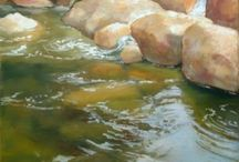 Painting water and rocks / Painting