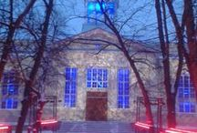 Lyrical pictures / Old church in the city of Helsinki