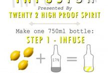 HighProofSpirit Infusing Recipes / Infused vodka recipes using Twenty 2 High Proof Spirit, for more details, visit www.highproofspirit.com