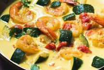 Crevettes curry
