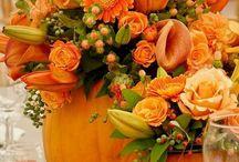 Esküvői dekoráció (narancs) - Wedding decoration (orange)