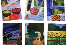 Notecard Sets by For Quilts Sake / Printed notecard sets of original art quilts hand made by Pam Geisel of For Quilts Sake.