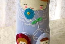 muñecas trapo matriushkas
