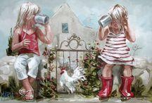 pintura de crianças