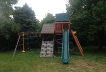Playset Add-on's / You can add on to or modify your playset over time, any time! To add fun new activities, offer new challenges, or just change it up. As the kids grow, so can your playset!